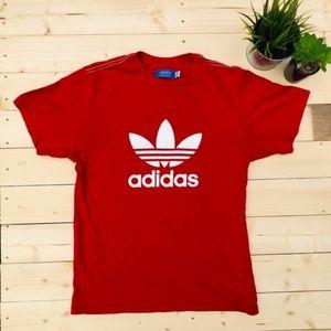 ❤️Adidas red tshirt logo